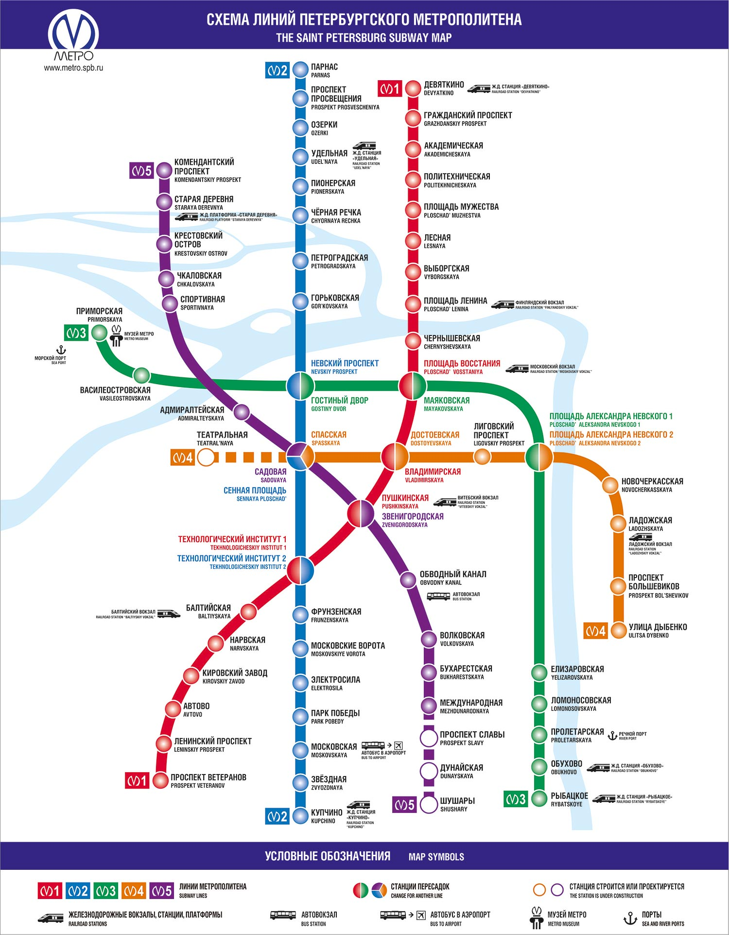 Metro Map of St. Petersburg